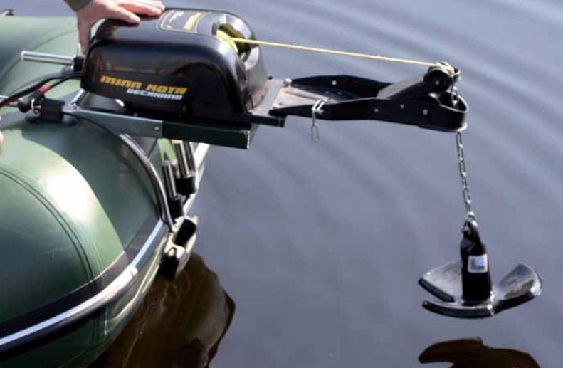 Как закрепить якорь на резиновой лодки